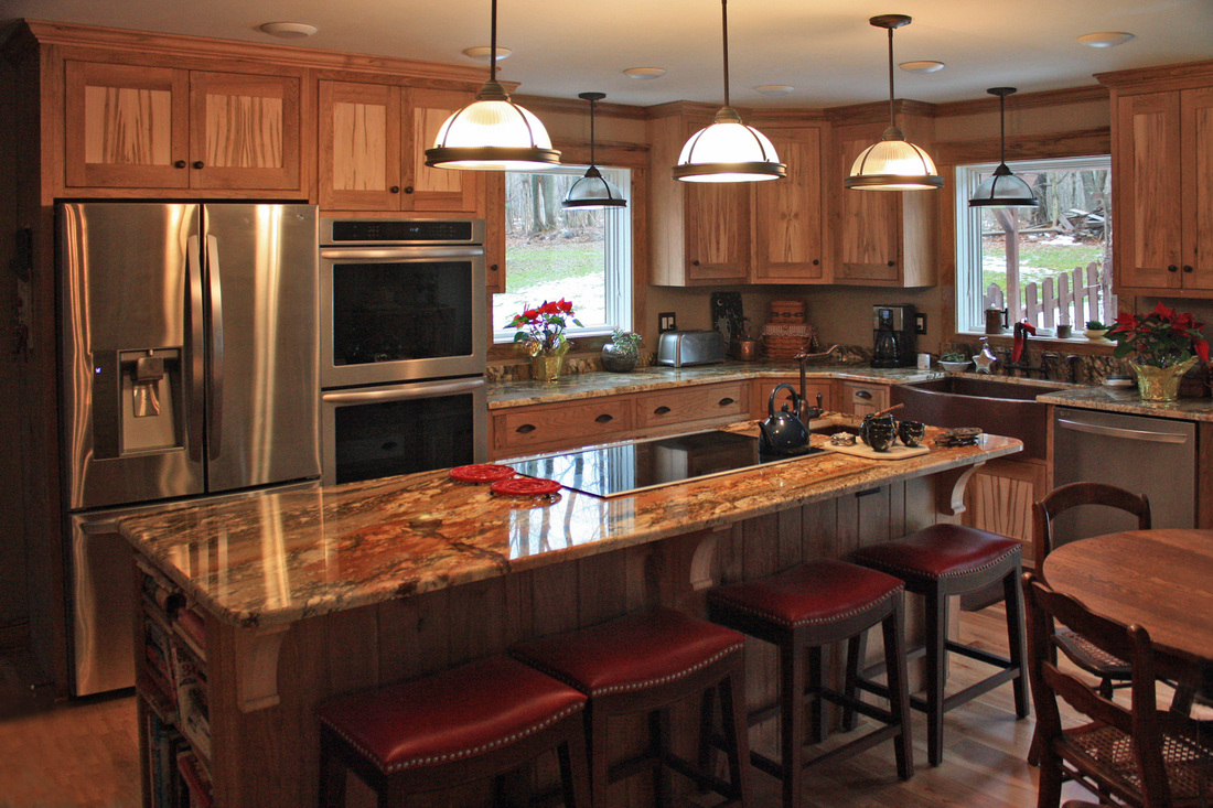 Custom Kitchen Cabinetry - WOODMANSEE WOODWRIGHTS Custom ... Electric Stove Top Granite